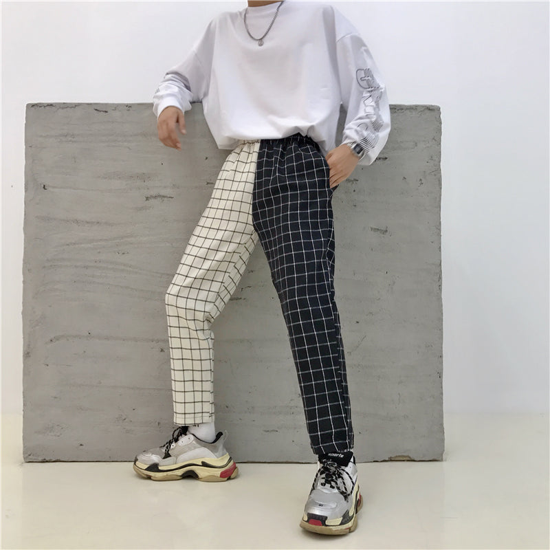 """ULZZANG VINTAGE PLAID"" PANTS W042501"