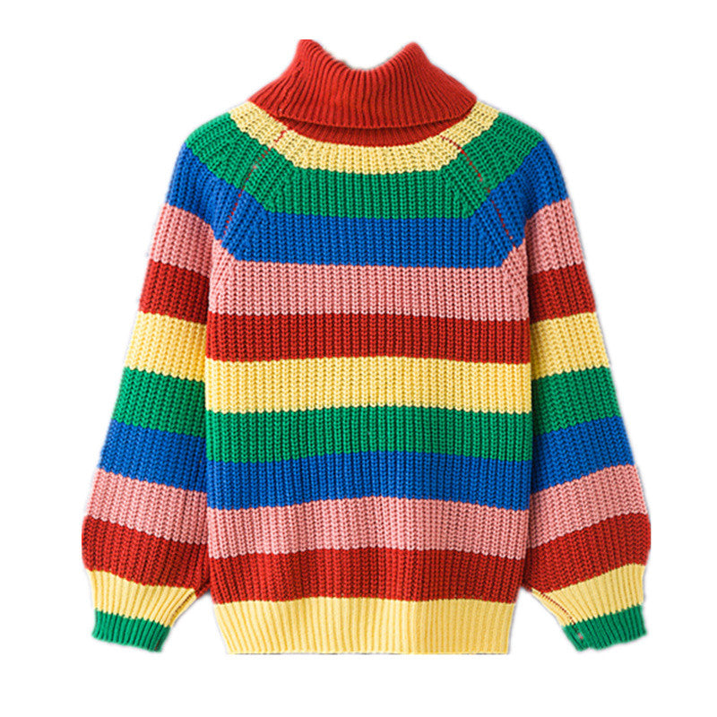 """RAINBOW"" KNIT SWEATER TOP W010424"