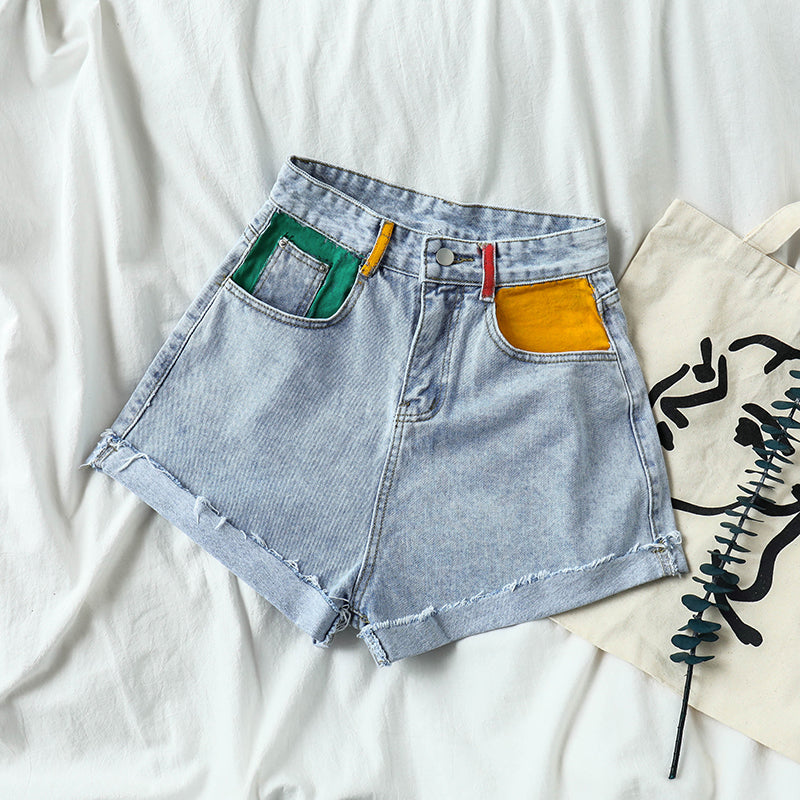 """PLUS SIZE CHIC CASUAL"" DENIM SHORTS Y041009"