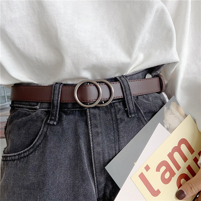 """SIMPLE RETRO HOLELESS"" BELT K122820"