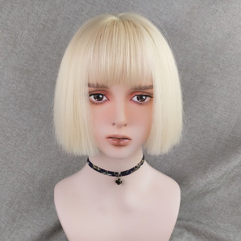 """MILK GOLD WIG / SILVER"" SHORT WIG K122809"