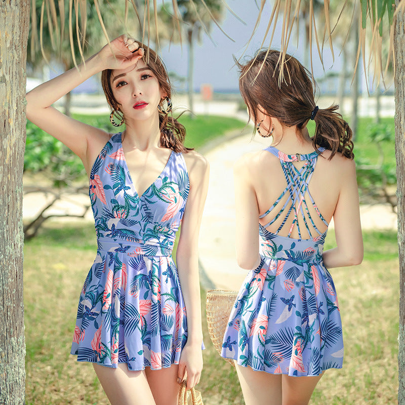 """PLANT PRINT ONE PIECE"" SWIMSUIT K052005"