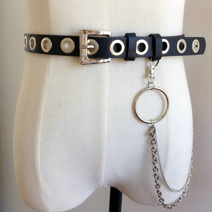 """ROCK PUNK CIRCLE CHAIN"" BELT K122817"