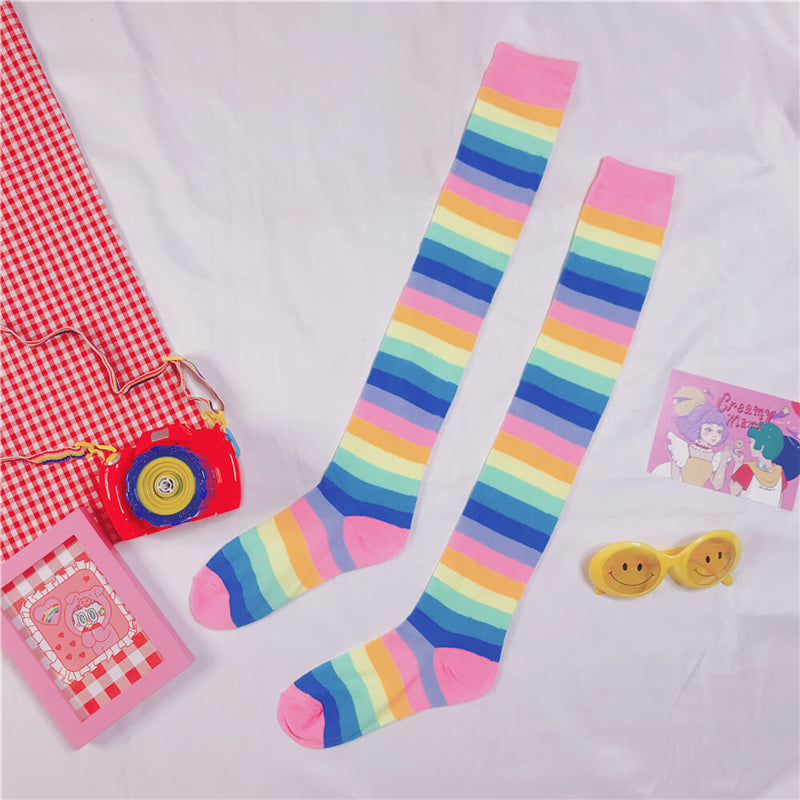 """RAINBOW KNIT WARM SUNSCREEN"" SLEEVES & STOCKINGS K052507"