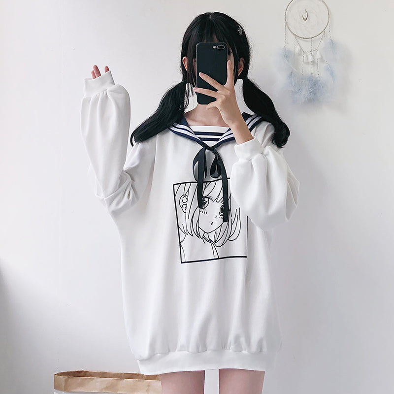 """COMIC NAVY COLLAR"" LONG SLEEVE K111903"