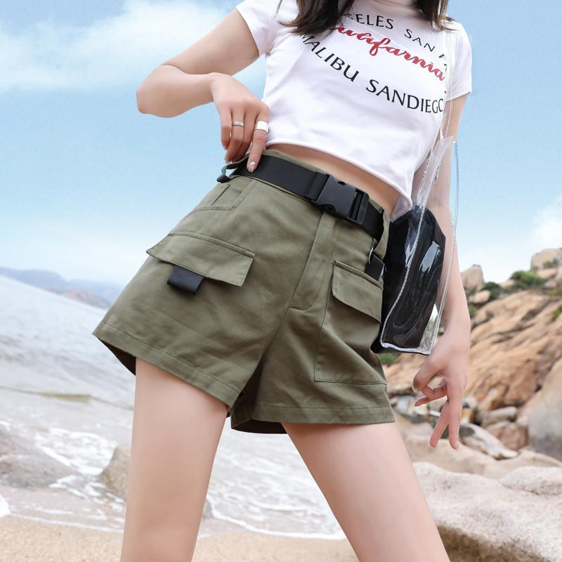 [@cheristyle_] FASHION CASUAL OVERALLS SHORTS WITH BELT K070208REVIEW
