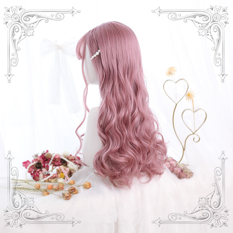 """SAKURA PINK AIR BANGS LONG CURLY"" WIG Y020807"