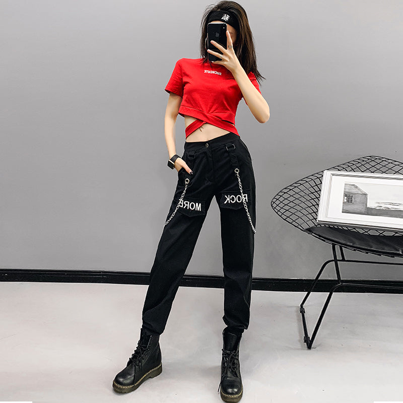 "[@glambyrave] ""ROCK MORE CHAIN ACCESSORIES"" SLING TROUSERS K031503REVIEW"