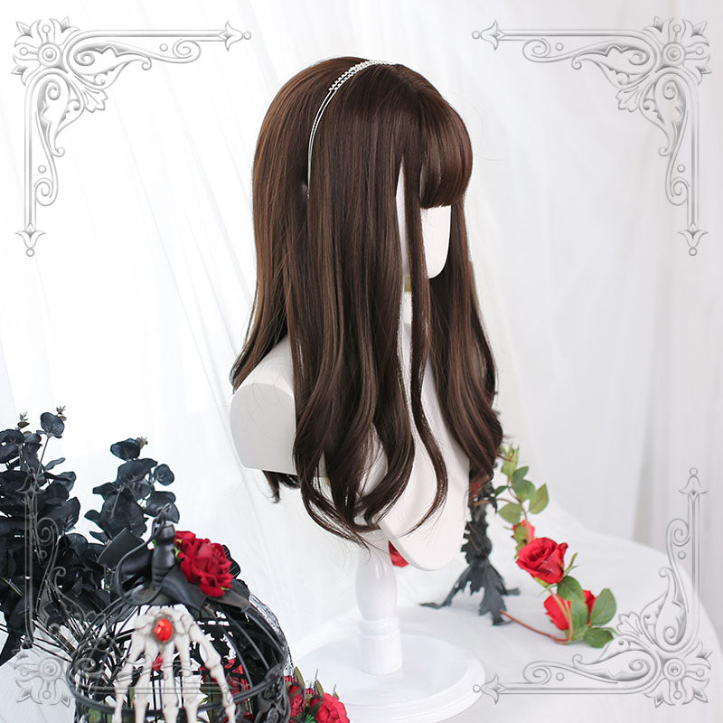 """ BROWN LONG CURLY HAIR ""WIG H082401"