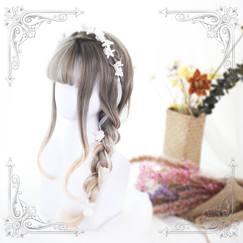"""LOLITA GRADIENT GREY GOLD"" WIG Y022902"