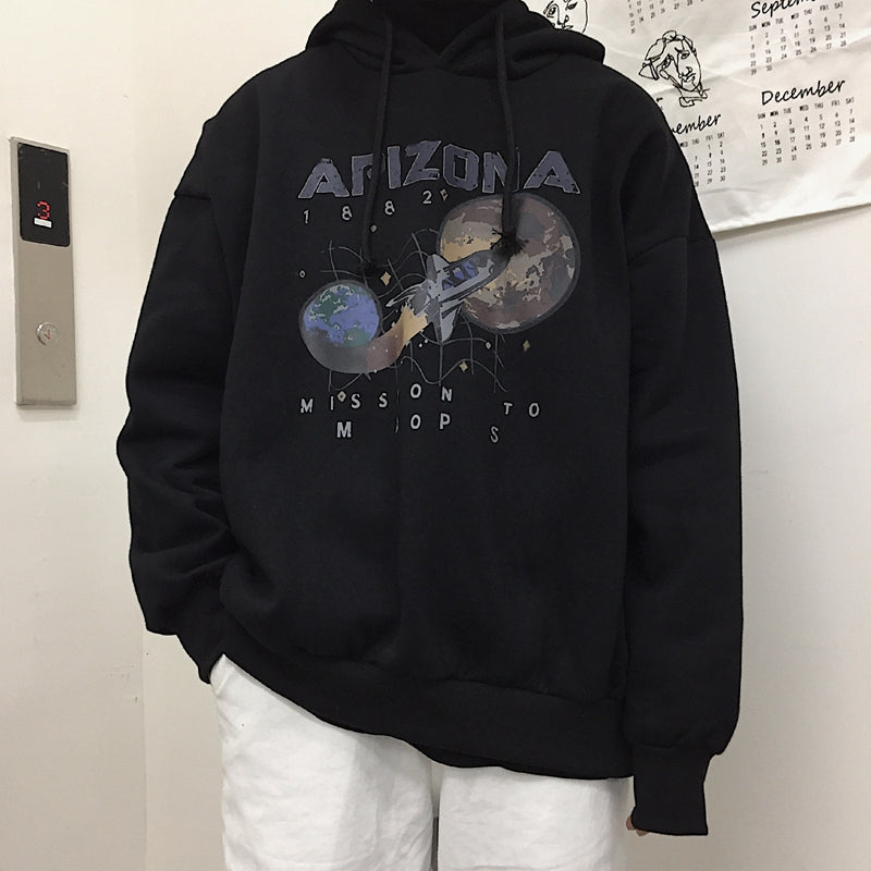 """ARIZONA MISSION TO MARS"" RETRO HOODIE W010606"