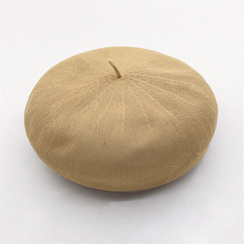 """THIN BREATHABLE KNIT"" OCTAGONAL BERET K061413"