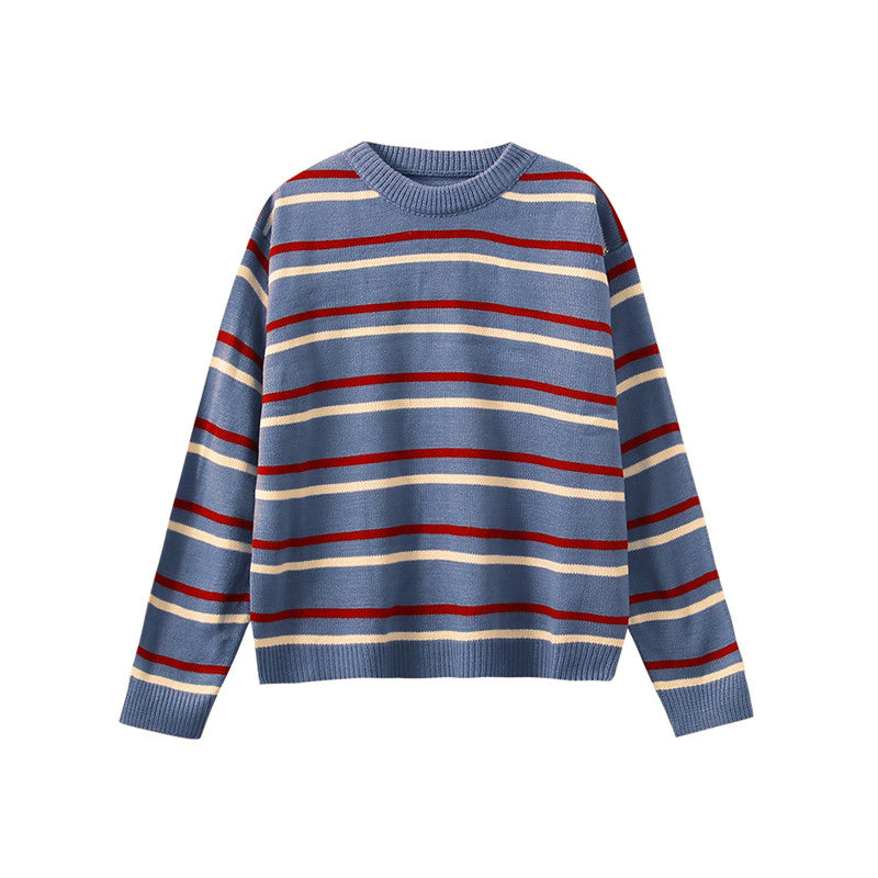 """CHIC STRIPED"" SWEATER K102512"