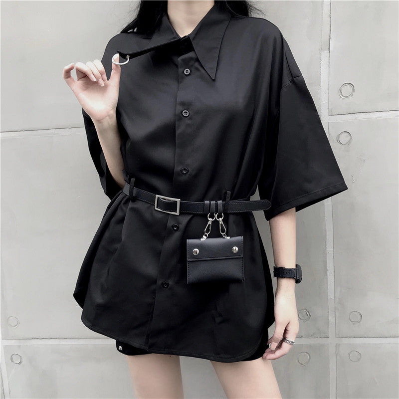 """BLACK"" SHIRT WITH BELT BAG K070201"