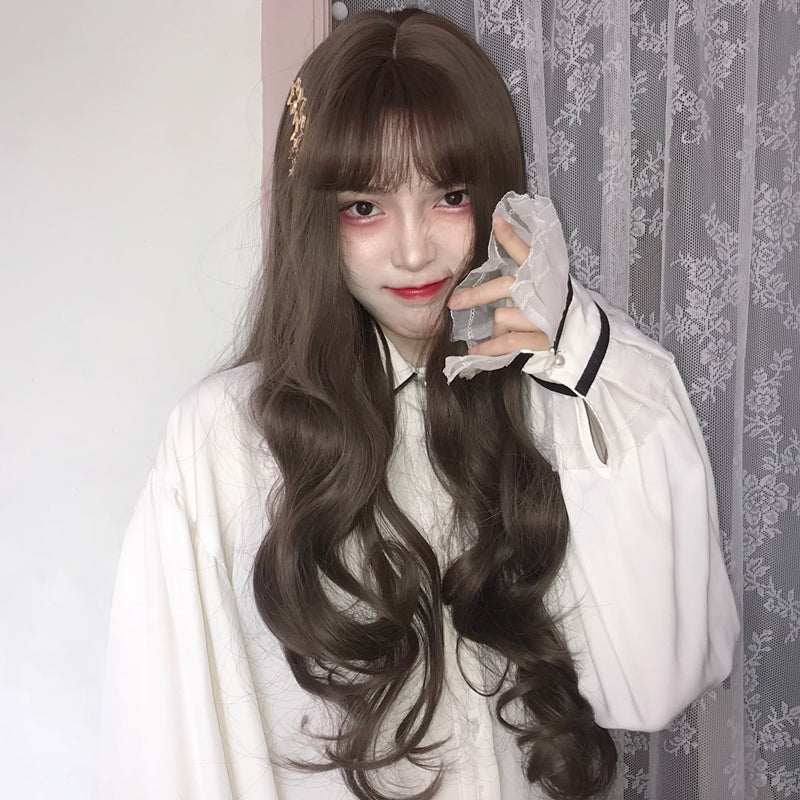 """ BROWN LONG CURLY HAIR ""WIG H082109"