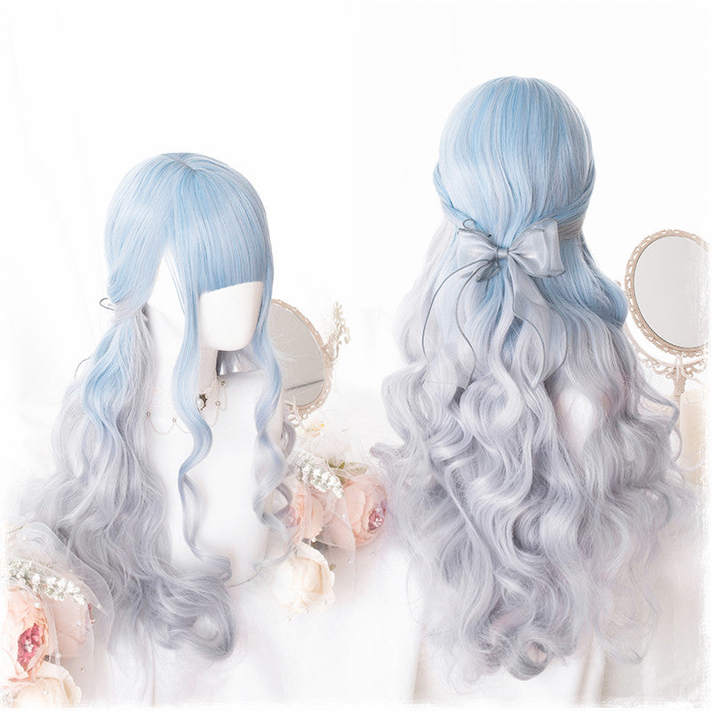 """LOLITA GRADIENT SKY BLUE"" LONG CURLY WIG K102317"