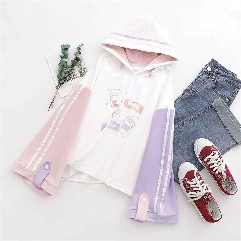 """MILK JUICE"" PASTEL HOODIES K102204"
