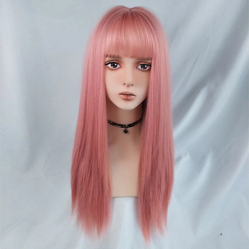 """PINK LONG STRAIGHT"" WIG Y040304"