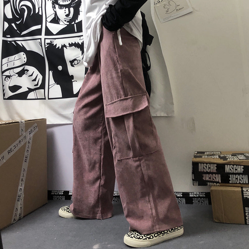 """3 COLOR CORDUROY LOOSE"" TROUSERS H032605"
