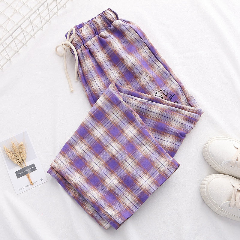 """PURPLE PLAID"" PANTS K070810"