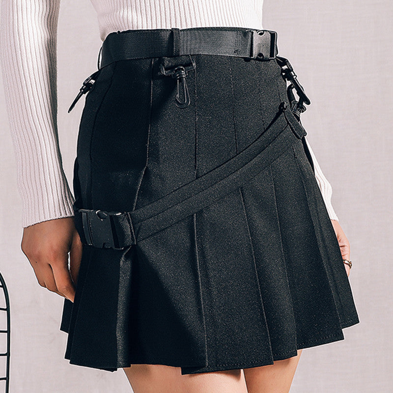 """RETRO POCKET"" PLEATED SKIRT K022601"