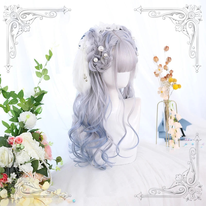 """LOLITA IRREGULAR DYEING"" LONG CURLY WIG Y021620"