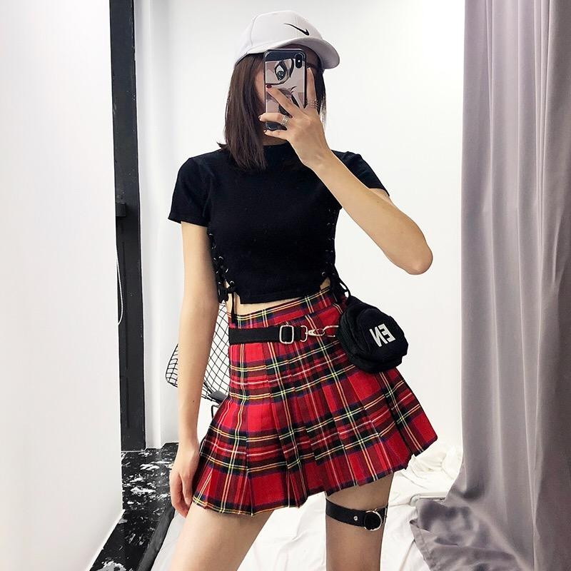 "[@tearastar] ""PLAID""SKIRT W010414REVIEW"