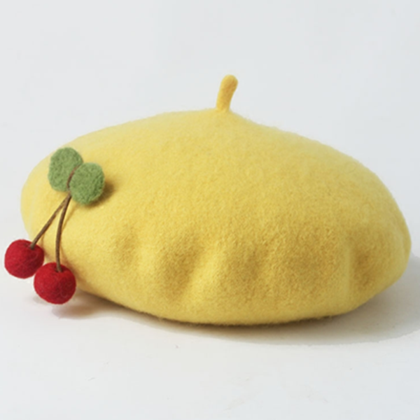 """CUTE CHERRY BERET"" HAT W010222"
