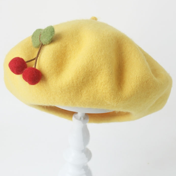"[@manboobs] ""CUTE CHERRY BERET"" HAT W010222REVIEW"
