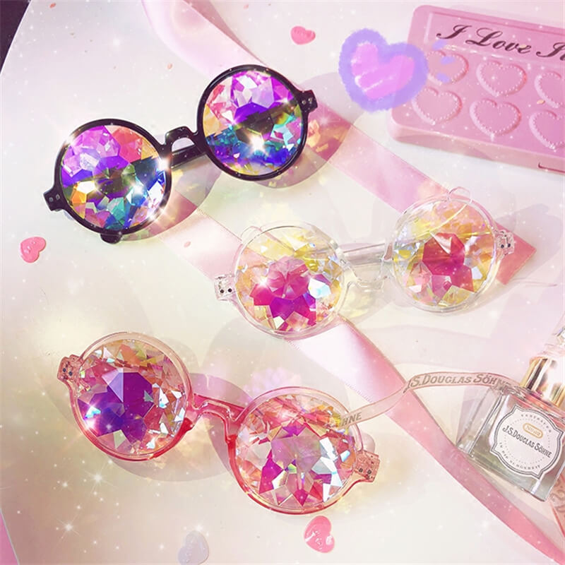 """VINTAGE KALEIDOSCOPE ILLUSION"" GLASSES K052503"