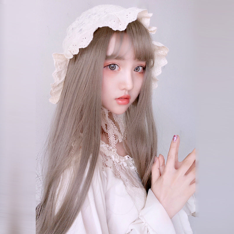 "[@sonya_rudskaya] ""LOLITA LINEN GRAY AIR BANGS"" WIG K082210REVIEW"