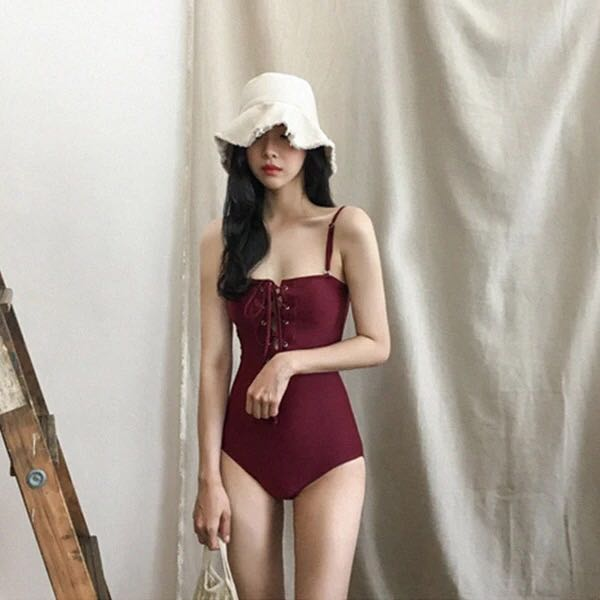 """VINTAGE SEXY STRAPPY"" SWIMSUIT K042904"