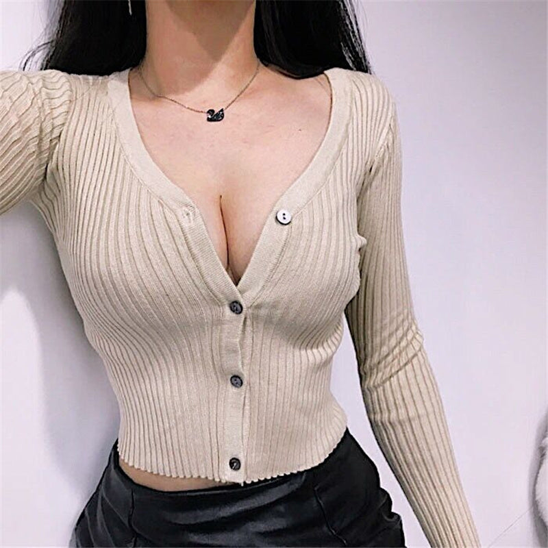 """4 COLORS SEXY"" KNIT TOP SWEATER K082407"