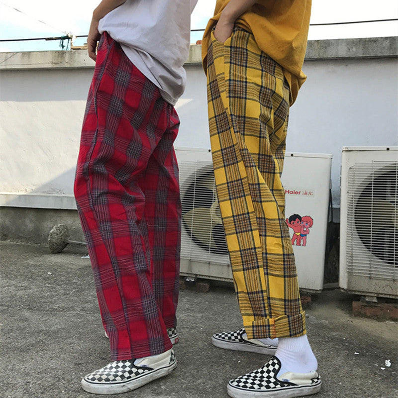 """PLAID WIDE-LEG"" TROUSERS K060704"