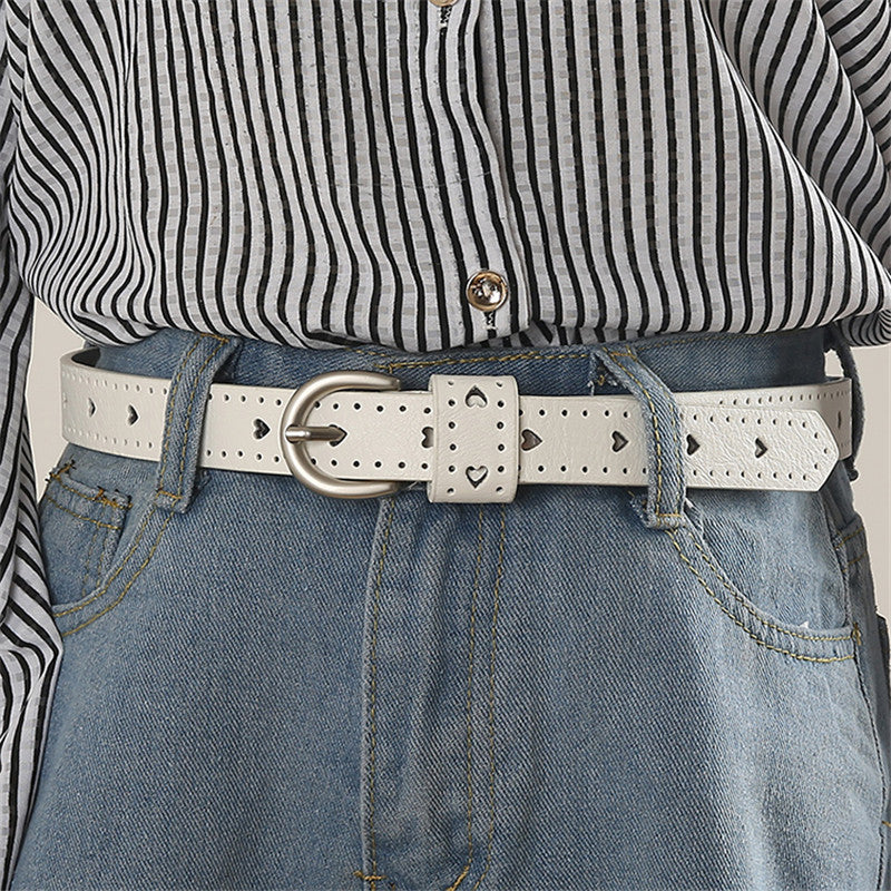 """CUTE LOVE HEART"" PU BELT K070905"