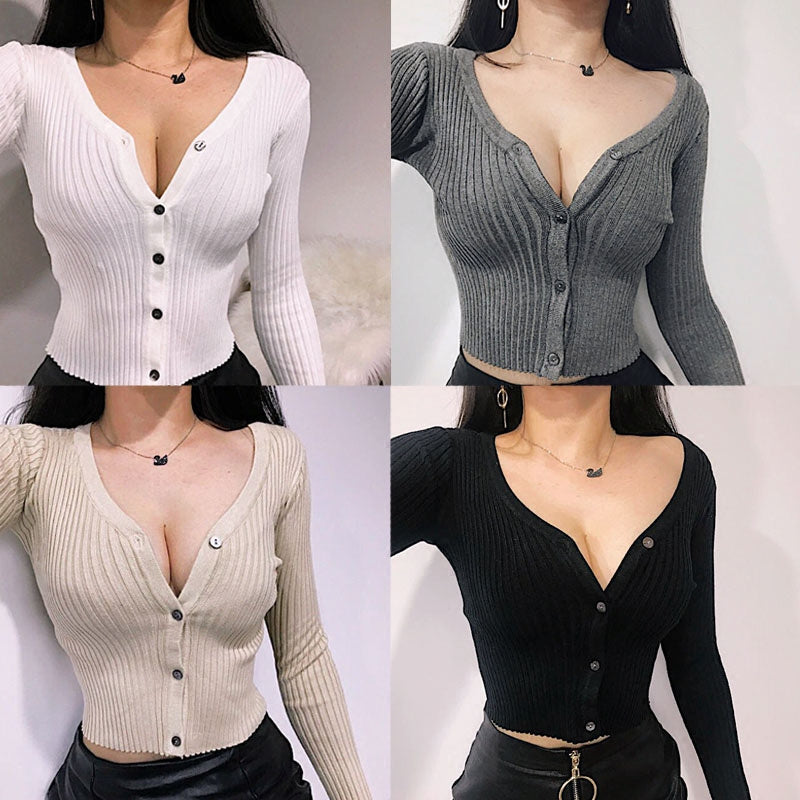 "[@sonya_rudskaya] ""4 COLORS SEXY"" KNIT TOP SWEATER K082407REVIEW"