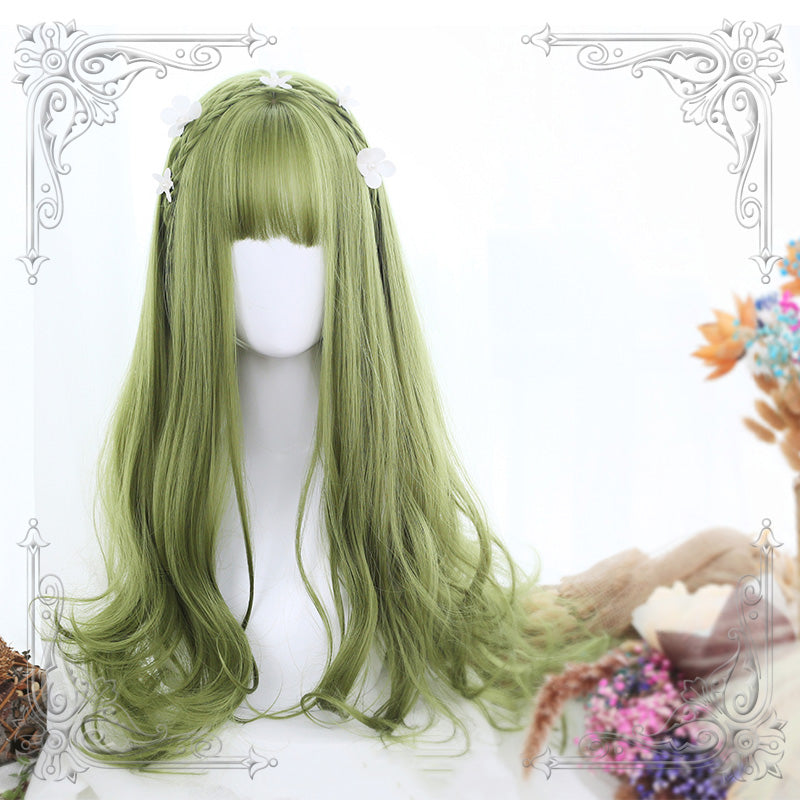 GREEN BIG WAVE WIG K070506
