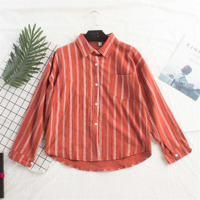 """VERTICAL STRIPED"" SHIRT K052804"