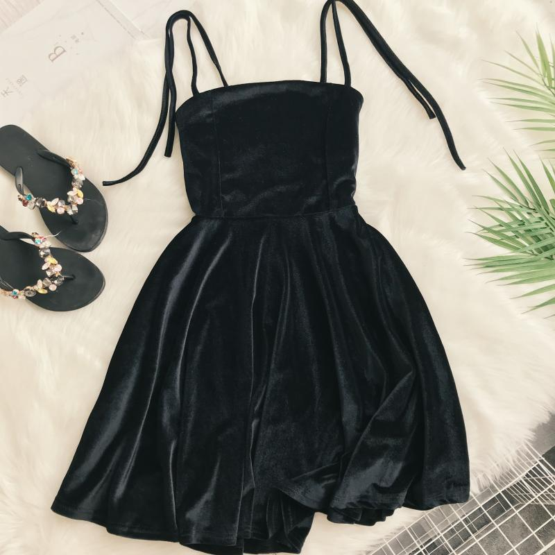 """CHIC SEXY SUSPENDER"" DRESS K061901"