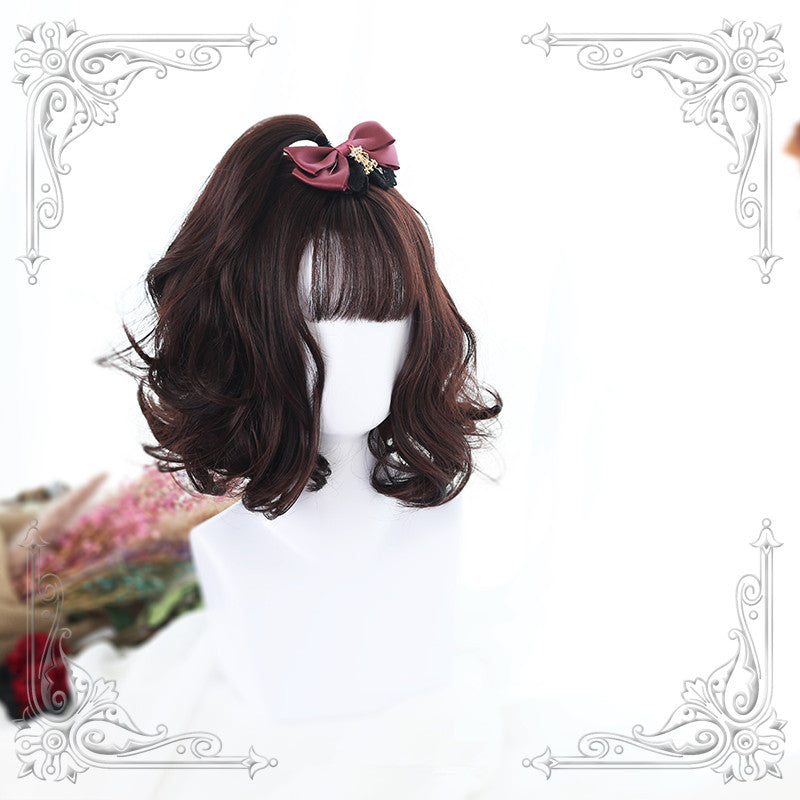 """3 COLORS LOLITA AIR BANGED SHORT"" WIG Y021705"