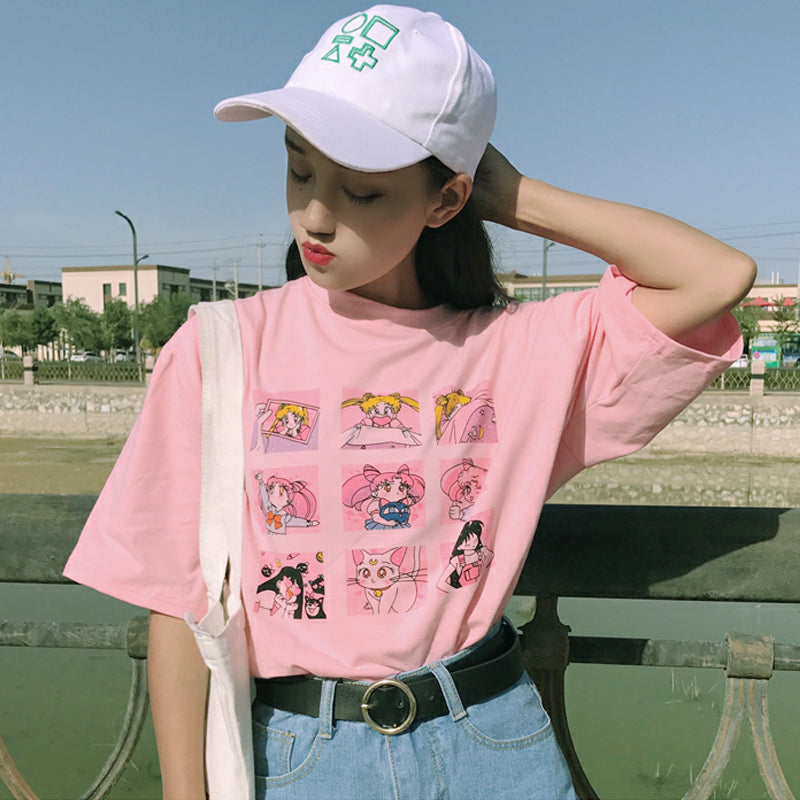 """HARAJUKU SAILOR MOON"" T-SHIRT K041302"