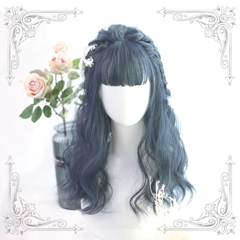 """LOLITA BLACK BLUE AIR BANGS"" WIG Y021709"