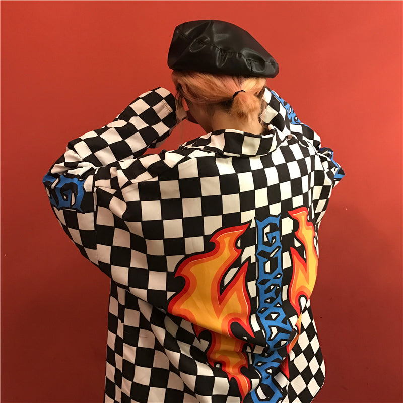 """CHECKERS & FLAMES"" JACKET W010145"