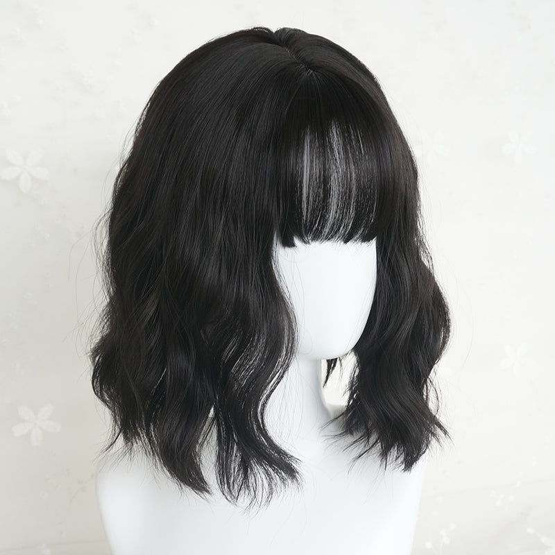"""BLACK MEDIUM LONG CURLY"" WIG K102002"