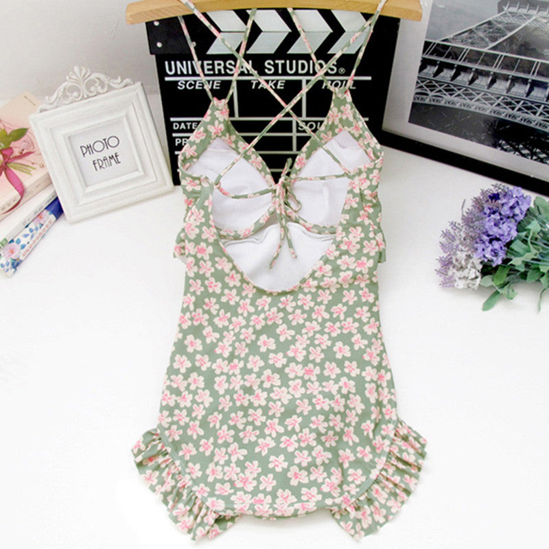"""SMALL FLORAL ONE PIECE"" SWIMSUIT W042702"