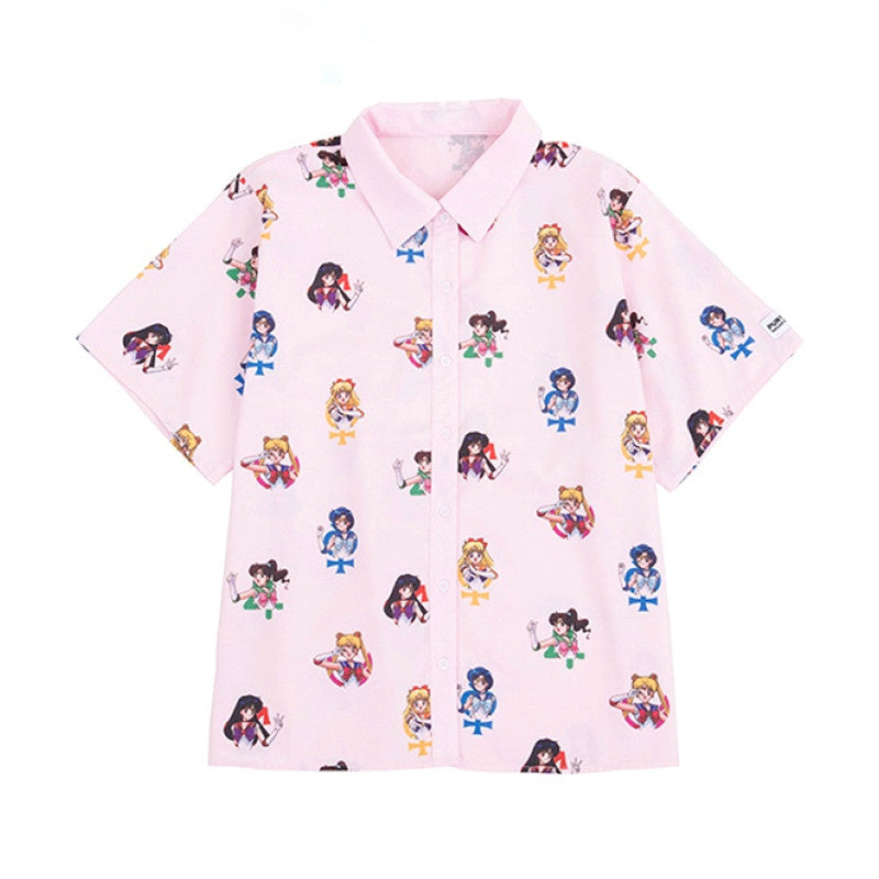 """PINK SAILOR MOON PRINT"" SHIRT K082103"