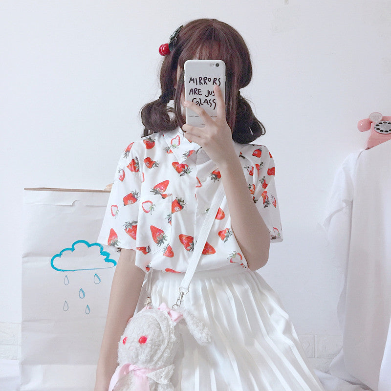 """STRAWBERRY"" SHIRT W010504"