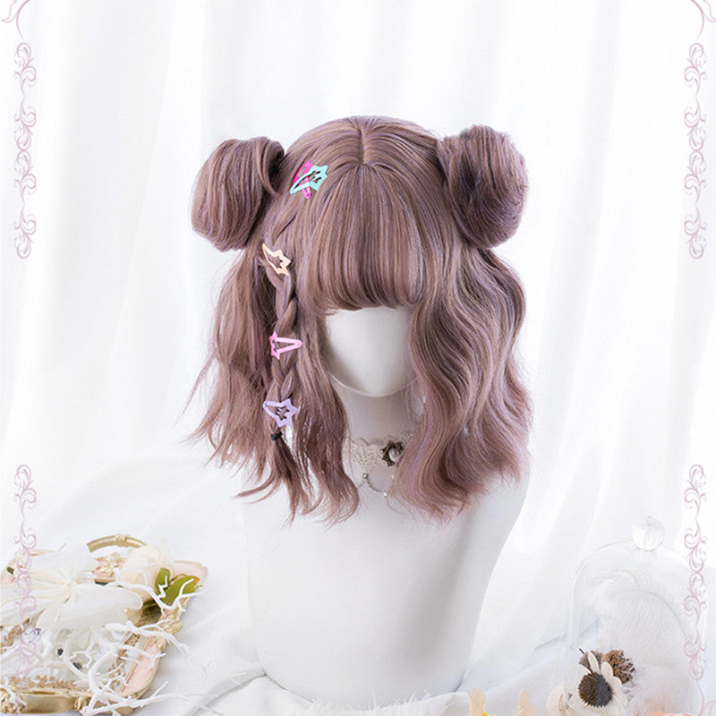 """LOLITA KAWAII"" CURLY WIG+TWO HAIR BALL K102309"