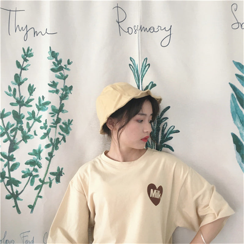 "[@minimal] ""ULZZANG MILK"" T-SHIRT W010116REVIEW"