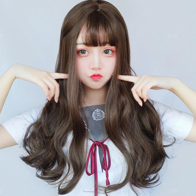 BLACK BROWN LONG ROLL WIG K070502